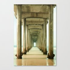 Scripps Pier Long Exposure Canvas Print