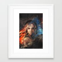 lady gaga Framed Art Prints featuring Do You Hear the People Sing? by Alice X. Zhang
