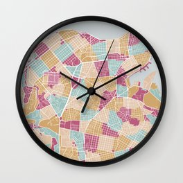 Habana map Wall Clock