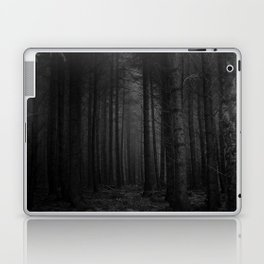 The Dense & Foggy Forest (Black and White) Laptop & iPad Skin