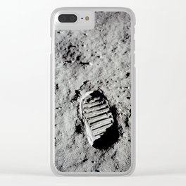 Apollo 11 - First Footprint On The Moon Clear iPhone Case