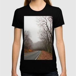 Foggy Fall Road T-shirt