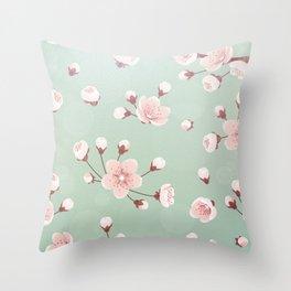Cherry blossom,sakura,spring flower,Japanese cherry flower Throw Pillow