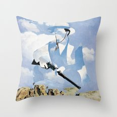 The Unknown Rider in Throw A Tall Shadow Throw Pillow