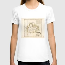 Map of Antigua by Juan Lopez (1780) T-shirt