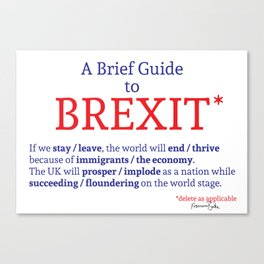 A Brief Guide to Brexit Canvas Print