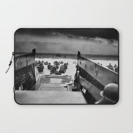 Into the Jaws of Death - D-day Vintage Photo by Robert F. Sargent Laptop Sleeve
