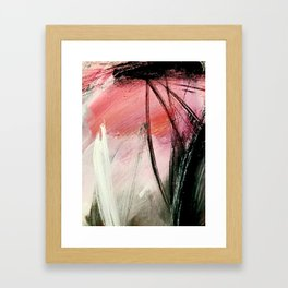 Train of thought: a vibrant abstract mixed media piece Framed Art Print