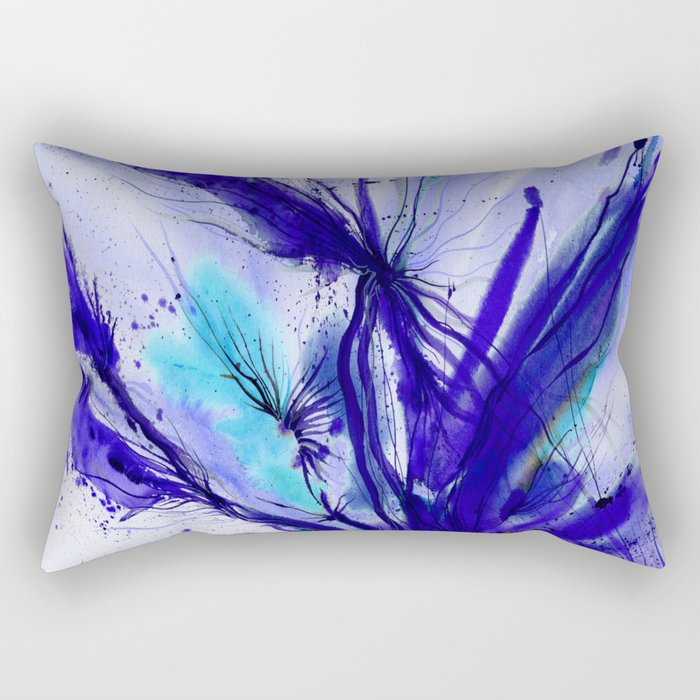 Organic Ecstasy No. 48e by Kathy Morton Stanion Rectangular Pillow