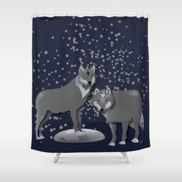 Wolves - 'A Fantastic Journey' Shower Curtain