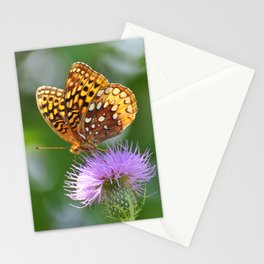 Butterfly on Perch Stationery Cards