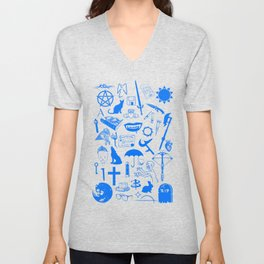 Buffy Symbology, Blue Unisex V-Neck