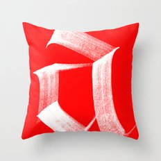 A fraktur White Throw Pillow