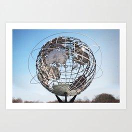 World'd Fair Globe, Queens Art Print