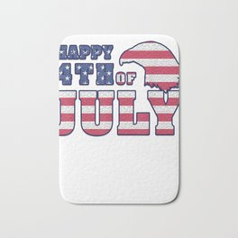 4th of July Shirt, Independence Day T-Shirt Bath Mat