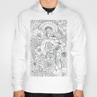 floral pattern Hoodies featuring Floral Pattern by Coffee and Pen