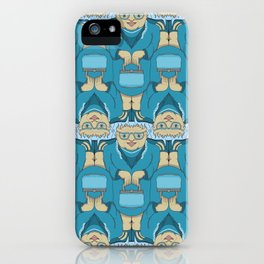 Blue Rinse with Handbag Tessellation iPhone Case