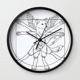 DaVinci Dog Lines Wall Clock