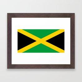 Flag of Jamaica Framed Art Print