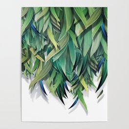 """Spring Forest of Surreal Leaf"" Poster"
