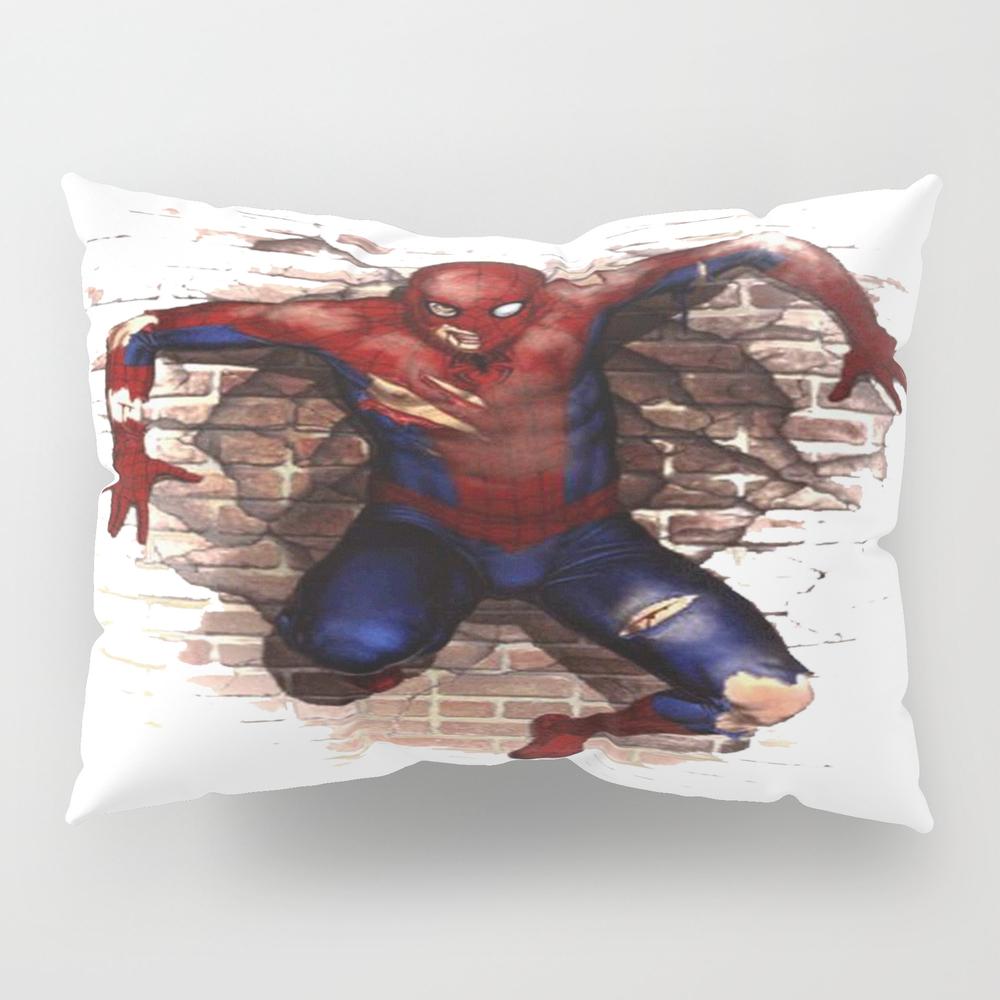 Spider Man Amazing Transparent Art Pillow Sham by Mandalorian3 PSH8419527