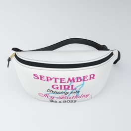 September Girl Birthday Fanny Pack