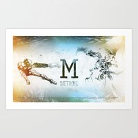 metroid Art Prints featuring Metroid by Alexander Pohl