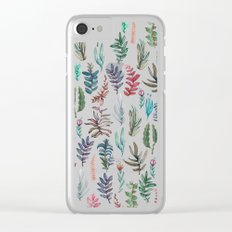 water color garden Clear iPhone Case