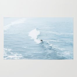 Blue Waves Surfer Rug