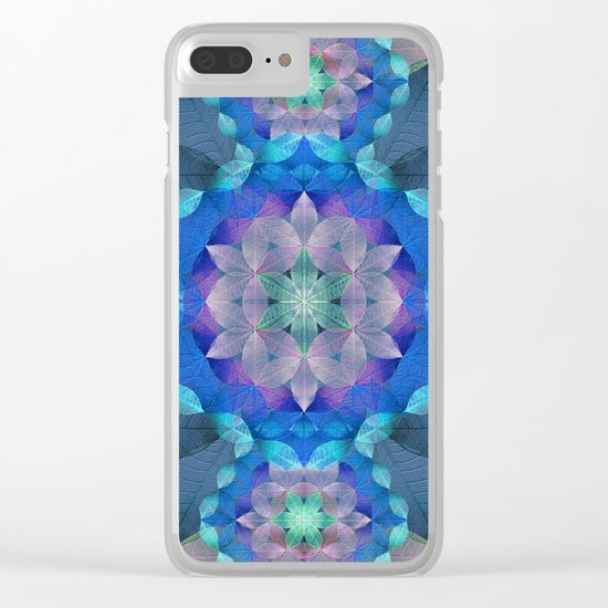 The Flower of Life - Leaf Pattern 2 Clear iPhone Case
