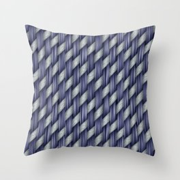 Blended Blue Fibre Weave Throw Pillow