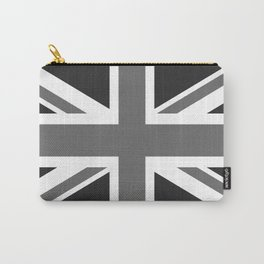 UK Flag, High Quality in grayscale Carry-All Pouch