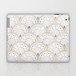 marble and gold art deco scales pattern Laptop & iPad Skin