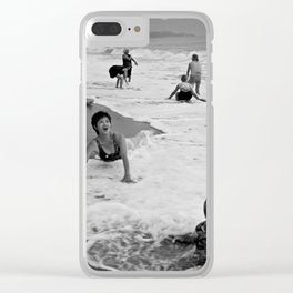 Bathing Woman in Vietnam - analog Clear iPhone Case