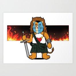 Brave Of Heart Lion Art Print