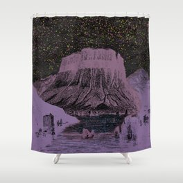 The Stars are out tonight Shower Curtain
