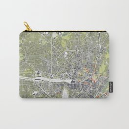Munich city map engraving Carry-All Pouch