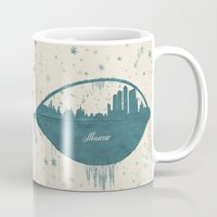 moscow Mugs featuring Frozen Moscow by Paula Belle Flores