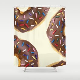 CHOCOLATE DONUTS Shower Curtain