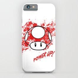 super mushroom red power up iPhone Case
