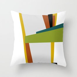 Mid Century Composition 2 Throw Pillow