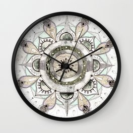 Moon Mandala Wall Clock