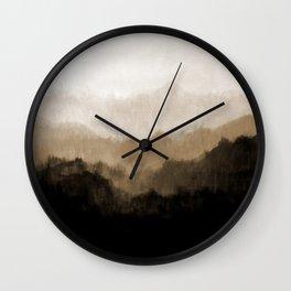 Old Mountain Wall Clock