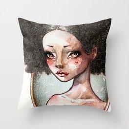 Sweet Ebony Throw Pillow