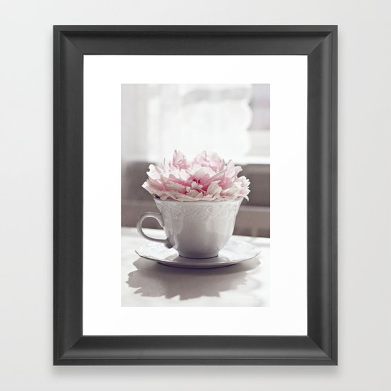 My cup of tea Framed Art Print