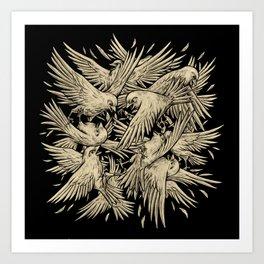 Birdfight Art Print