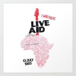 Live Aid Live Aid, benefit concert Art Print