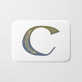 Celtic Knotwork Alphabet - Letter C Bath Mat