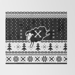 Out Of Step Xmas Throw Blanket