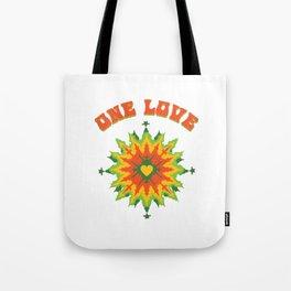 One Love fractal Tote Bag